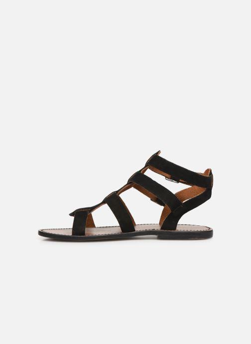 Sandales et nu-pieds White Sun Libertia Noir vue face