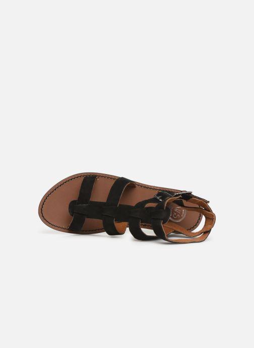 Sandales et nu-pieds White Sun Libertia Noir vue gauche