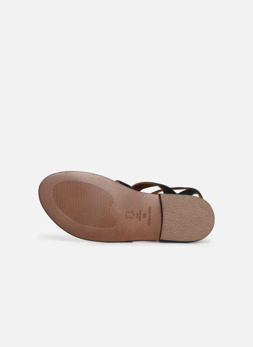 Sandales et nu-pieds White Sun Libertia Noir vue haut