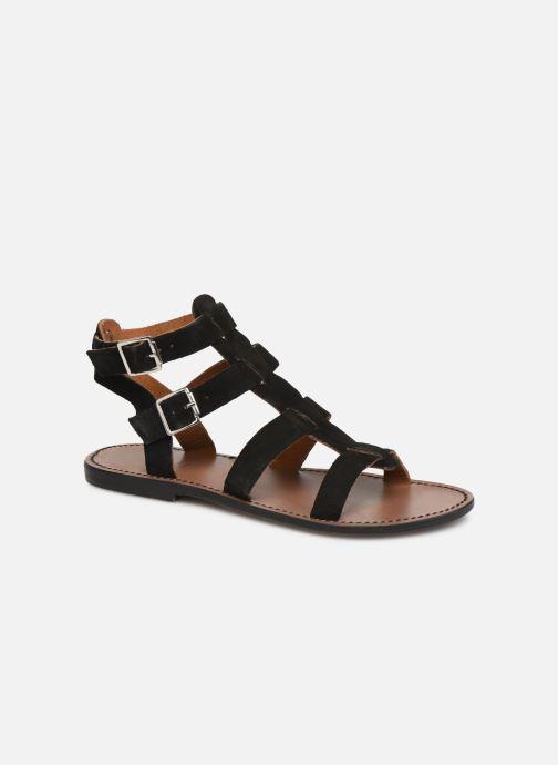 Sandales et nu-pieds White Sun Libertia Noir vue détail/paire