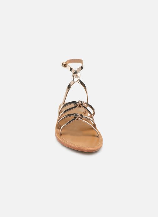 Sandals White Sun Viky Bronze and Gold model view