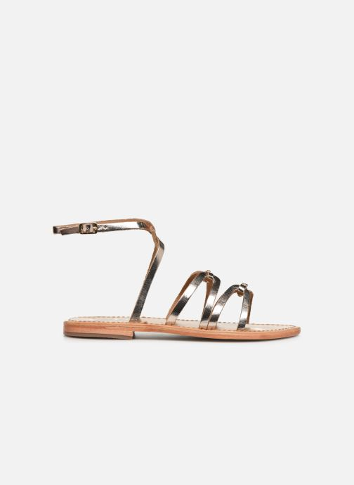 Sandals White Sun Viky Bronze and Gold back view