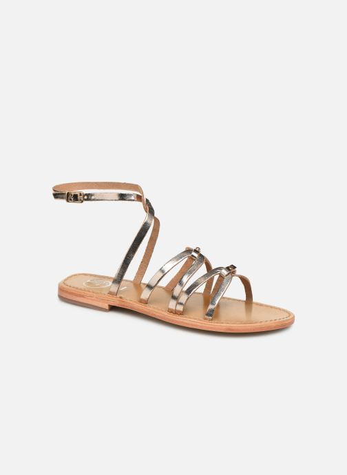 Sandals White Sun Viky Bronze and Gold detailed view/ Pair view
