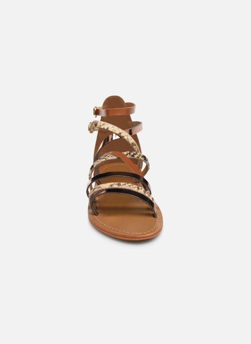 Sandales et nu-pieds White Sun Valizas Marron vue portées chaussures