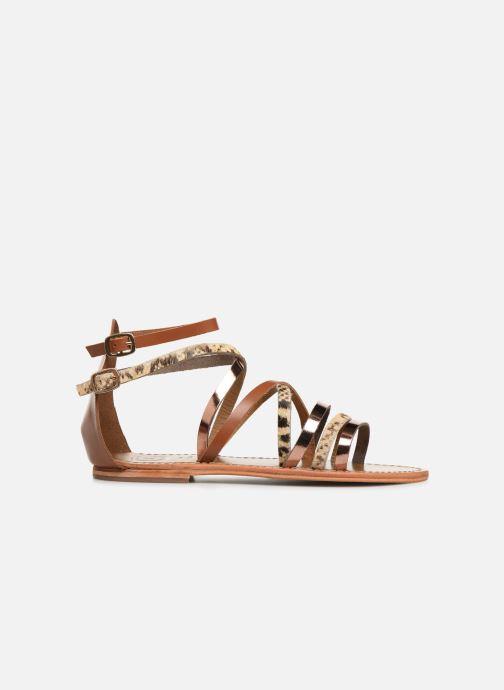 Sandales et nu-pieds White Sun Valizas Marron vue derrière