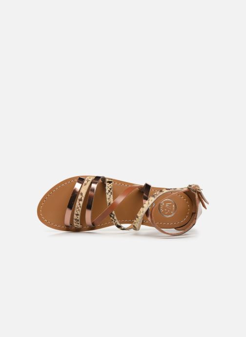 Sandals White Sun Valizas Brown view from the left