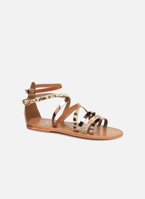 Sandales et nu-pieds White Sun Valizas Marron vue détail/paire