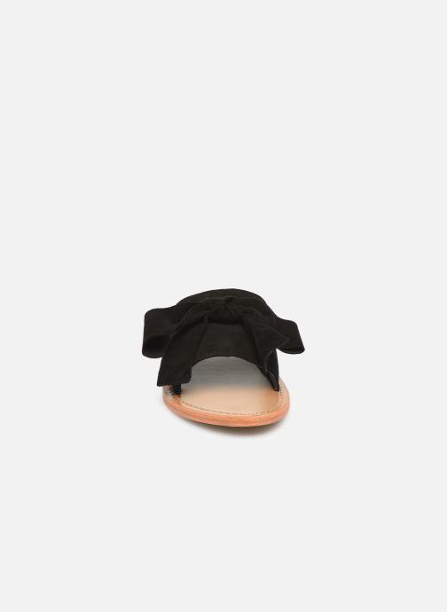 Zoccoli White Sun Serpa Nero modello indossato