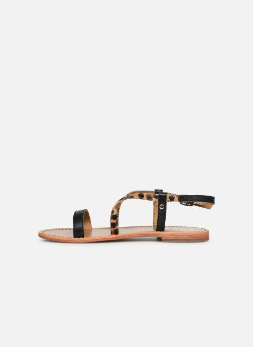 Sandales et nu-pieds White Sun Recife Noir vue face