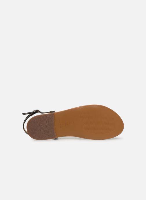 Sandales et nu-pieds White Sun Recife Noir vue haut