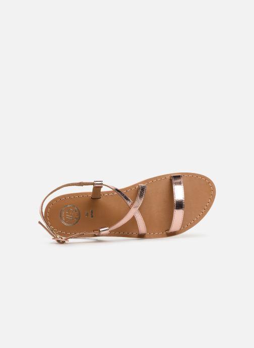 Sandales et nu-pieds White Sun Recife Rose vue gauche