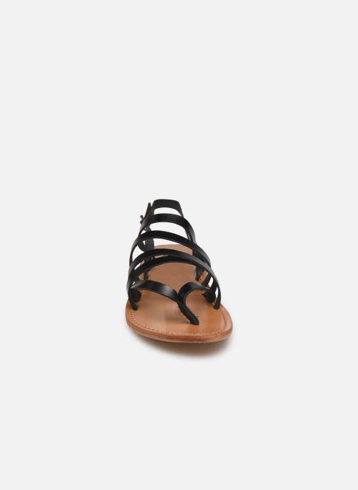 Sandales et nu-pieds White Sun Paisty Noir vue portées chaussures
