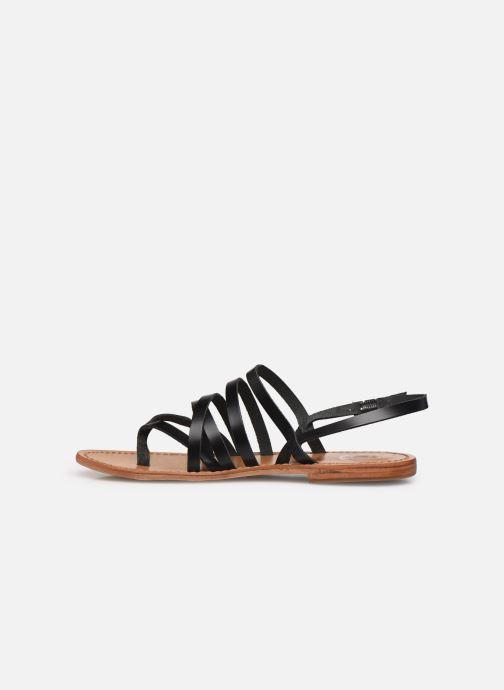 Sandales et nu-pieds White Sun Paisty Noir vue face