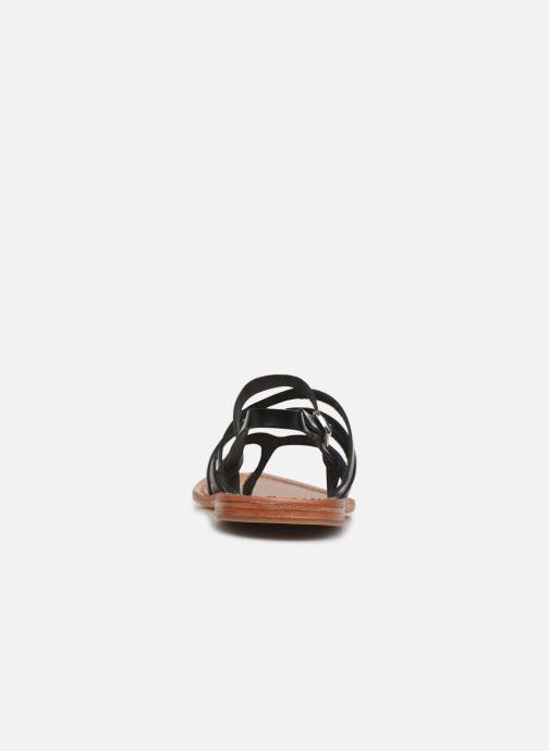 Sandales et nu-pieds White Sun Paisty Noir vue droite