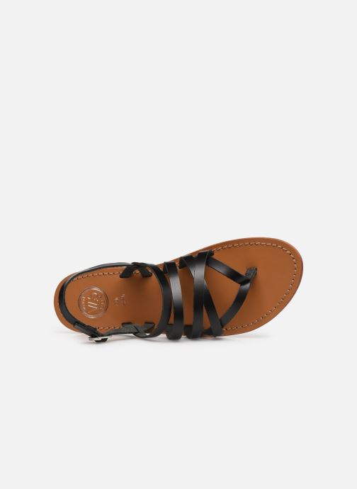 Sandales et nu-pieds White Sun Paisty Noir vue gauche