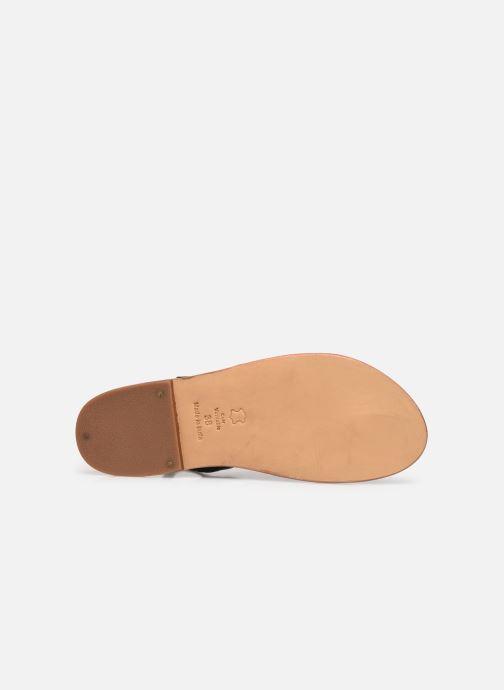 Sandales et nu-pieds White Sun Paisty Noir vue haut