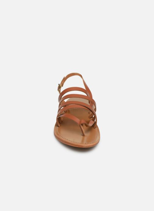 Sandals White Sun Paisty Brown model view