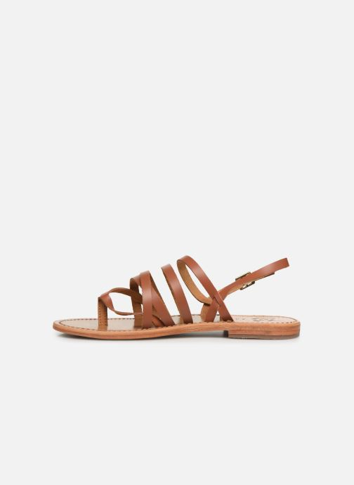 Sandals White Sun Paisty Brown front view