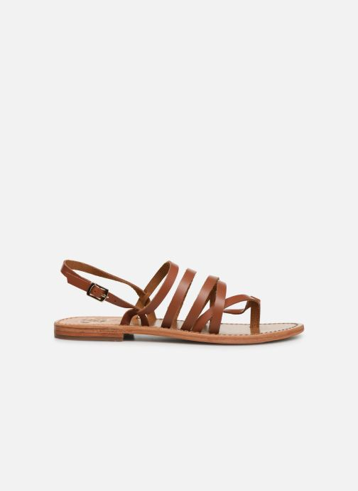 Sandals White Sun Paisty Brown back view