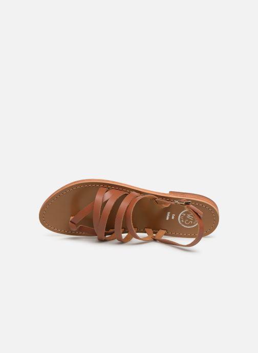 Sandales et nu-pieds White Sun Paisty Marron vue gauche