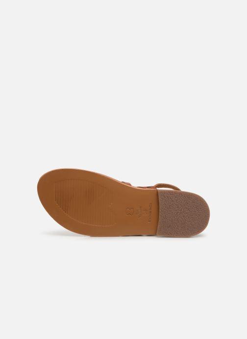 Sandales et nu-pieds White Sun Paisty Marron vue haut