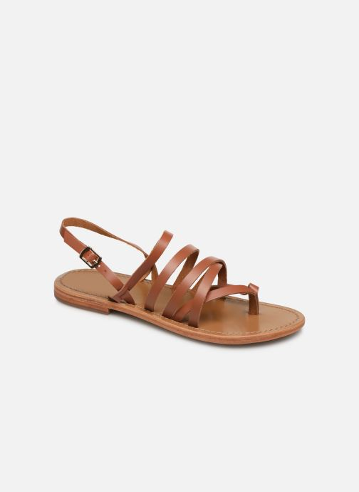 Sandals White Sun Paisty Brown detailed view/ Pair view