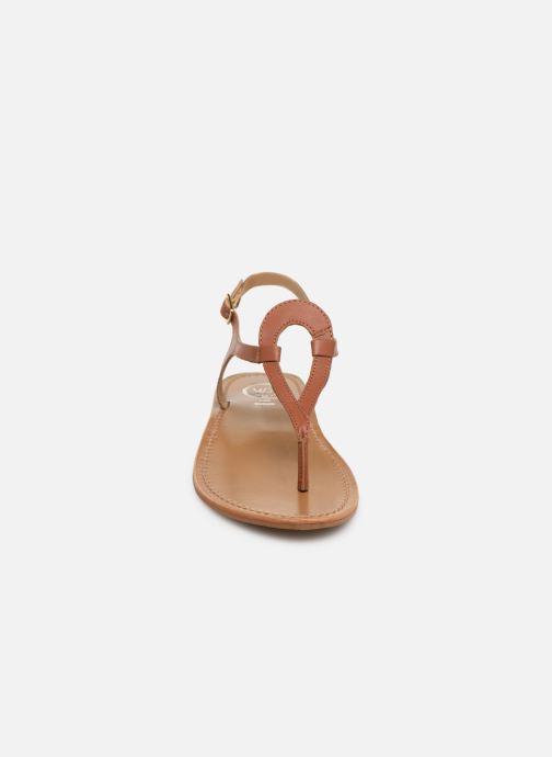 Sandals White Sun Varde Brown model view