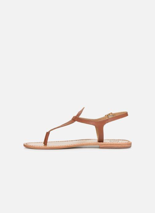 Sandals White Sun Varde Brown front view