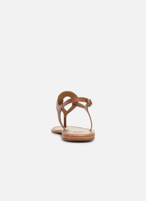 Sandals White Sun Varde Brown view from the right