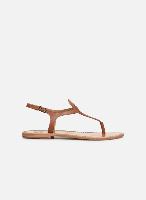 Sandals White Sun Varde Brown back view