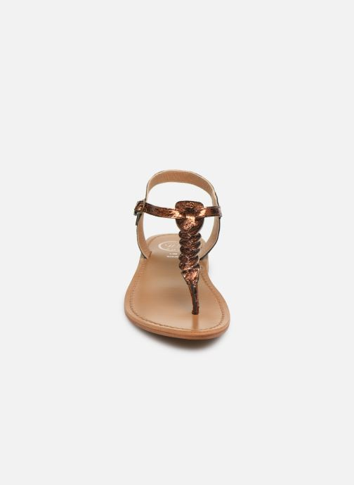 Sandals White Sun Natal Bronze and Gold model view