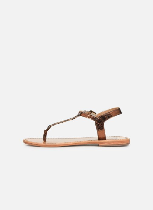 Sandals White Sun Natal Bronze and Gold front view