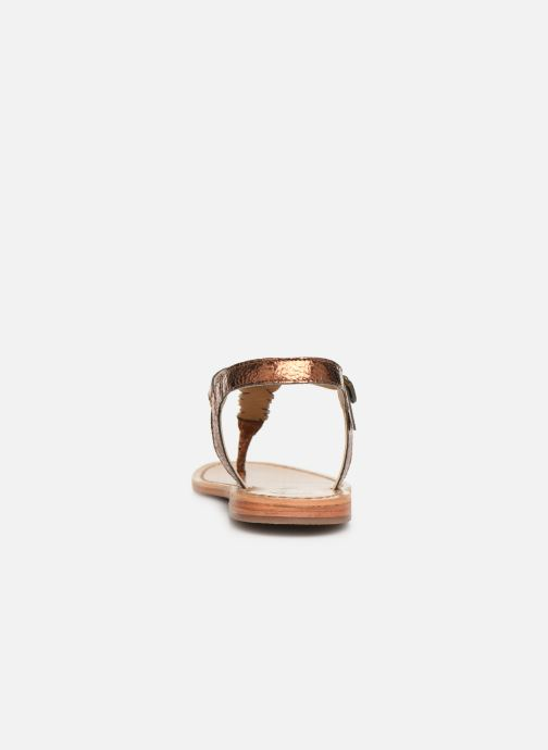 Sandals White Sun Natal Bronze and Gold view from the right