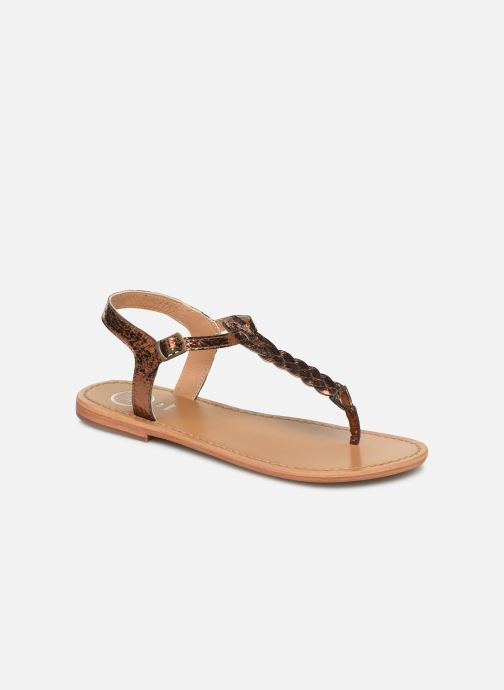 Sandals White Sun Natal Bronze and Gold detailed view/ Pair view