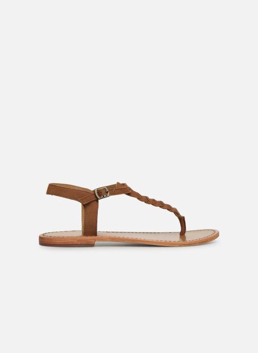 Sandales et nu-pieds White Sun Natal Marron vue derrière