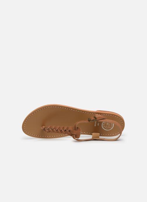 Sandales et nu-pieds White Sun Natal Marron vue gauche