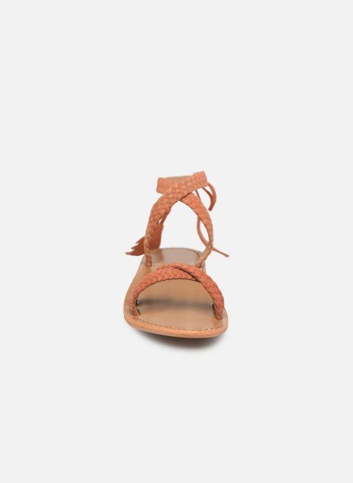 Sandales et nu-pieds White Sun Mora Orange vue portées chaussures