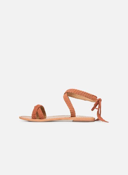 Sandales et nu-pieds White Sun Mora Orange vue face
