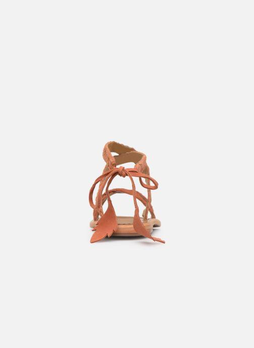 Sandales et nu-pieds White Sun Mora Orange vue droite