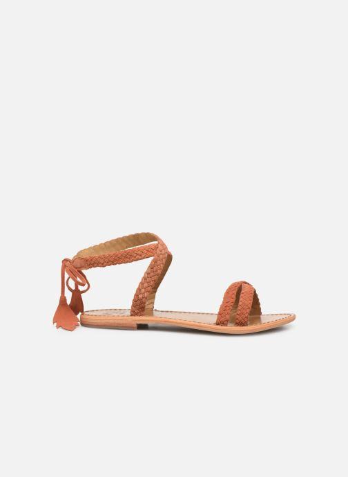 Sandales et nu-pieds White Sun Mora Orange vue derrière