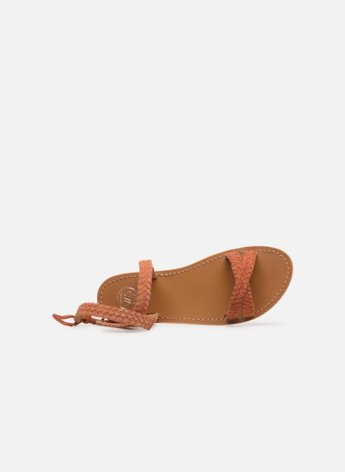 Sandales et nu-pieds White Sun Mora Orange vue gauche