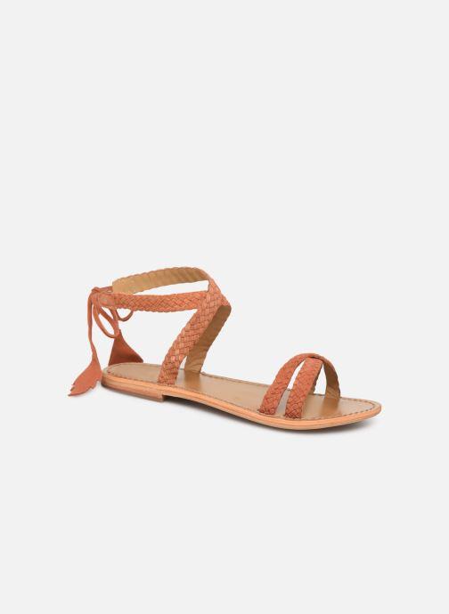 Sandales et nu-pieds White Sun Mora Orange vue détail/paire