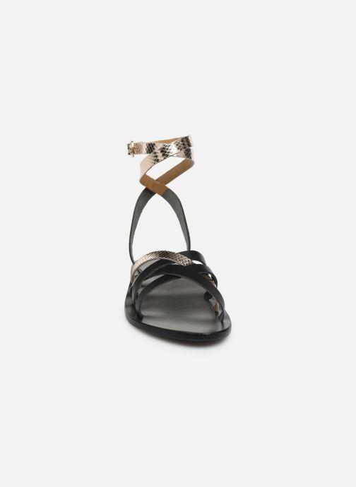 Sandales et nu-pieds White Sun Montgomery Noir vue portées chaussures