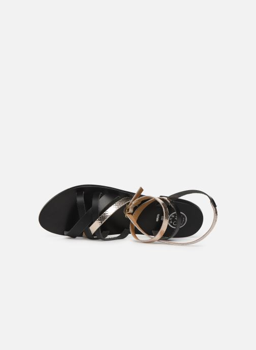 Sandales et nu-pieds White Sun Montgomery Noir vue gauche