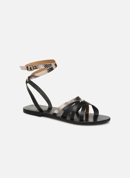 Sandales et nu-pieds White Sun Montgomery Noir vue détail/paire