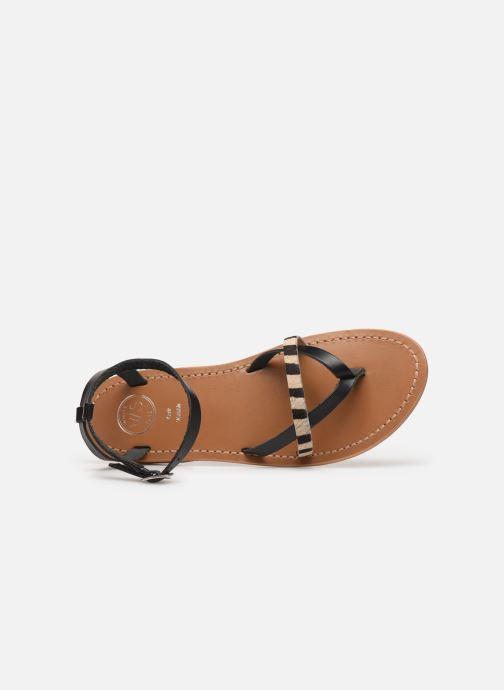 Sandales et nu-pieds White Sun Mitra Noir vue gauche