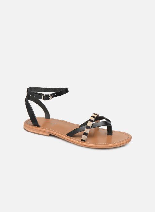 Sandales et nu-pieds White Sun Mitra Noir vue détail/paire