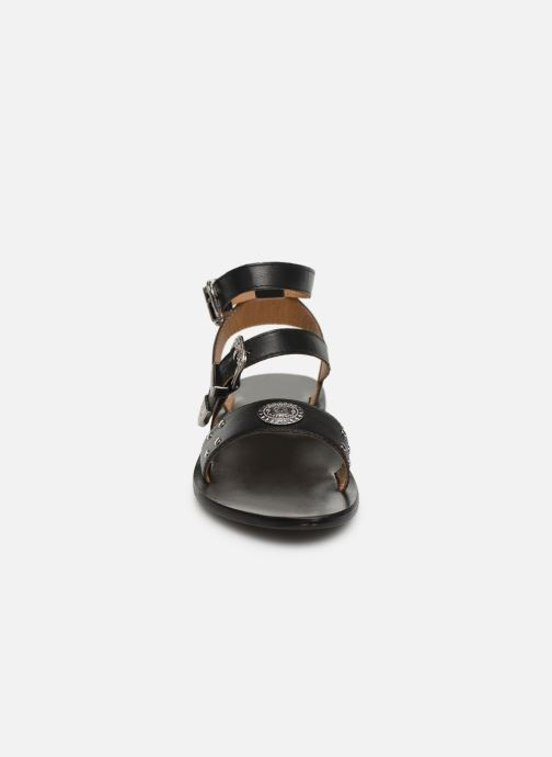 Sandales et nu-pieds White Sun Macarella Noir vue portées chaussures