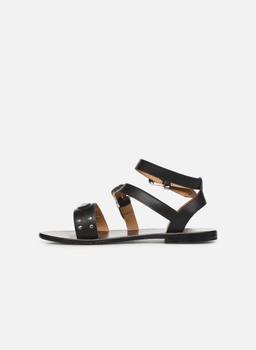 Sandales et nu-pieds White Sun Macarella Noir vue face