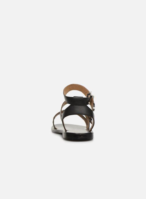 Sandales et nu-pieds White Sun Macarella Noir vue droite